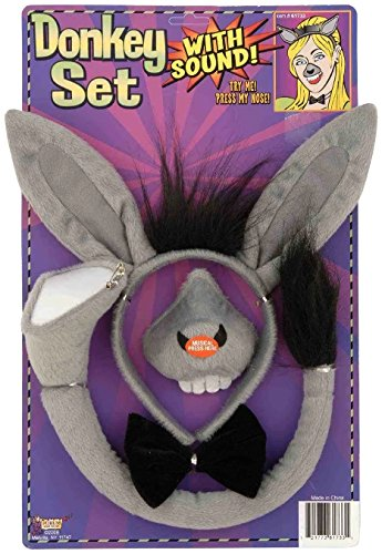 Shrek Costumes (Forum Novelties Animal Costume Set Donkey Nose Tail with Sound Effects)