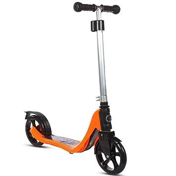 CDREAM Scooter para Niños Patinete 2 Ruedas Grandes con Altura Ajustable Y Carga Máxima 100 Kg,Orange: Amazon.es: Deportes y aire libre