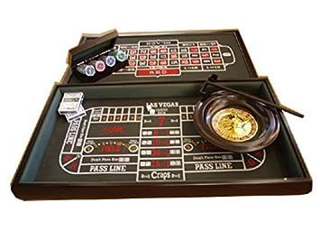 Mesa Ruleta Dados Blackjack Fichas Poker Casino Amazon Es Juguetes