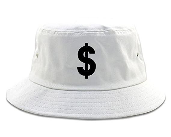 8bc33fe4979 Dollar Sign Simple Chest Bucket Hat Black at Amazon Men s Clothing store