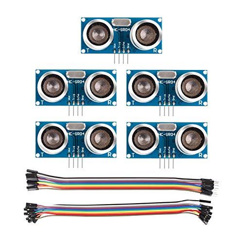 - SunFounder 5 pcs Ultrasonic Module HC-SR04 Distance Sensor for Arduino UNO MEGA R3 Mega2560 Duemilanove Nano Robot Rapsberry Pi 3 B+, 2 & RPi Model B+ XBee ZigBee
