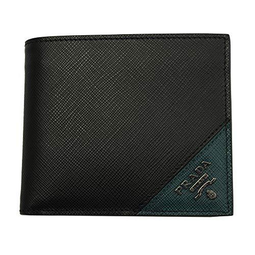 Prada Mens Black Saffiano Leather Bi-fold Wallet ()
