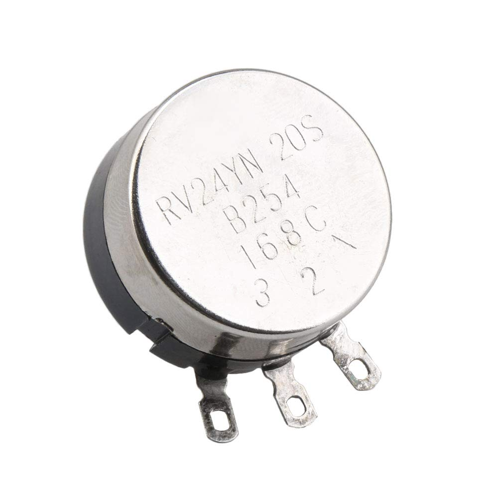 1 Drehung 500 Ohm Yibuy RV30YN Potentiometer verstellbarer Widerstand