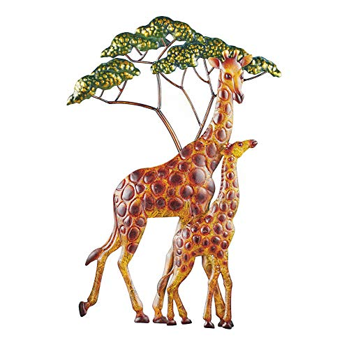 Collections Etc Giraffe Family Hand-Painted 3D Wall Art with Hooks for Easy Hanging - Beautiful Accent for Any Room in Home ()