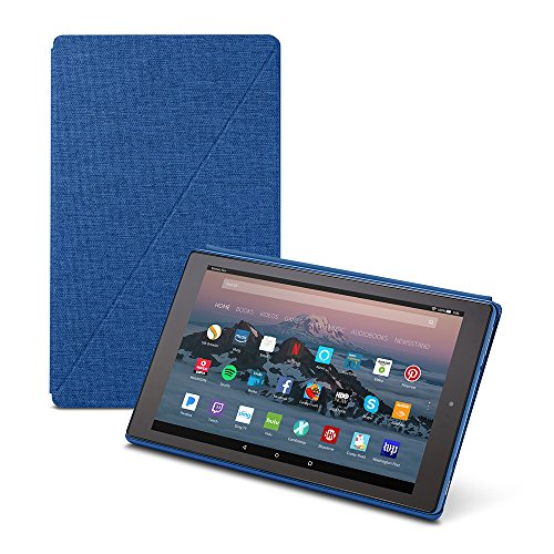 Amazon Fire HD 10 Tablet Case (7th Generation, 2017 Release), Marine Blue (Kindle Voice Off Turn)