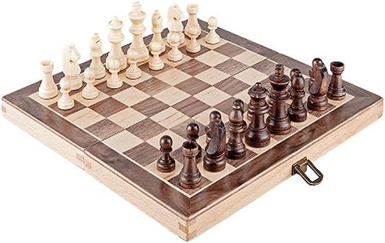 CAIM ELM ajedrez, Juego de ajedrez Plegable, for no magnético de ...