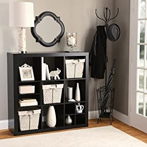 Better Homes And Gardens 9 Cube Organizer Storage Bookcase Bookshelf Solid Black