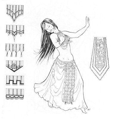 Dance Costume Patterns (Parvaneh's Panels Pattern (Belly Dance))