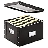 Wholesale CASE of 15 - Ideastream Collapsible Letter/Legal File Box-Collapsible File Box,Letter/Legal,15''x12-3/8''x9-3/4'',Black