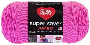 Red Heart  Super Saver Jumbo Yarn, Pretty N Pink