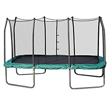 Skywalker 8x14' Rectangle Trampoline and Enclosure (Green)