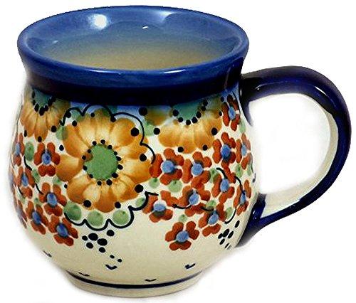 Polish Pottery Snowman - Polish Pottery 16 Ounce Bubble Mug Signature LB Avery