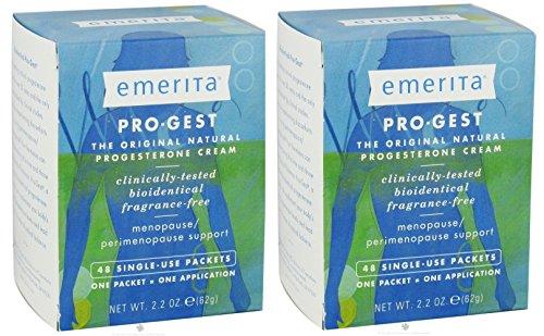 Pro Gest Body Cream (Pro-gest Cream (Paraben Free) By Emerita (Pro-gest) - 48 Packets x)