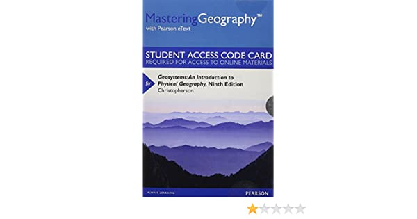 Masteringgeography with pearson etext standalone access card masteringgeography with pearson etext standalone access card for geosystems an introduction to physical geography 9th edition robert w fandeluxe Choice Image