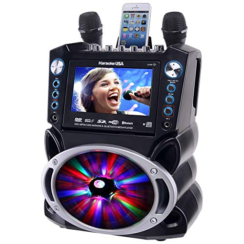 Karaoke GF842 DVD/CDG/MP3G Karaoke System with 7'' TFT Color Screen, Record, Bluetooth and LED Sync Lights by Karaoke USA (Image #2)