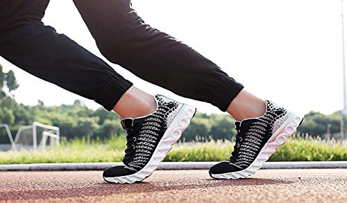 Heren Dames Unisex Fashion Sneakers Atletisch Ademende Sportschoenen Van Jiye Zwart Grijs