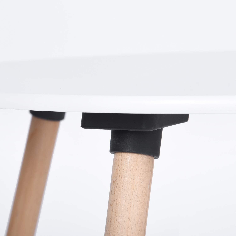 Blanche Design Scandinave Moderne DORAFAIR Table de Salle /à Manger Ronde Diam/ètre 80cm