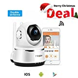 FREDI Wireless Baby Monitor Camera 720P Security IP Home Camera with Two-Way Talking,Infrared Night Vision,Pan Tilt,P2P Wps Ir-Cut Nanny ip Camera Motion Detection (White)