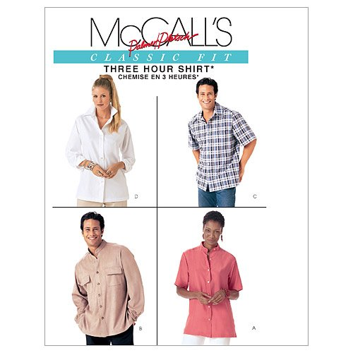 McCall's Patterns M4079 Misses' and Men's Shirts, Size Y (SM-MED-LRG)