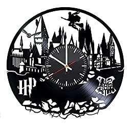 Hogwarts Modern Handmade Vinyl Record Wall Clock - Get unique bedroom or nursery wall decor - Gift ideas for kids and teens - Magic Castle Unique Art Design
