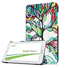 Flip Cover for Acer Iconia One 7 B1-780 Slim Cover,PU Leather Outer Case Folio Folding Cover for Tablet Acer Iconia One 7 B1-780 with Kickstand-Happy Tree