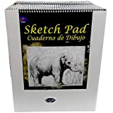 Sketch Pad, 11'' x 14'',15 Sheets, Case Pack of 24, Ideal for Bulk Buyers