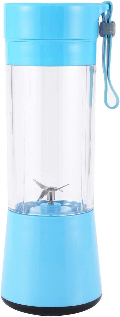 Licuadora Peque?A de un Solo Uso Licuadora de Tama?O Personal Licuadora de Viaje de Mano Taza Exprimidora 380Ml Azul Cobeky Recargable por USB