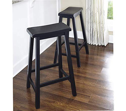 (Deluxe Premium Collection Powell Antique Black with Sand Through Terra Cotta Bar Stool 29