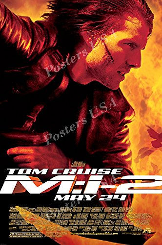 """Posters USA - Mission Impossible II 2 Tom Cruise Movie Poster GLOSSY FINISH- MOV222 (24"""" x 36"""" (61cm x 91.5cm))"""