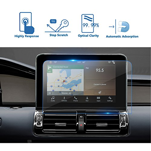 LFOTPP 2018 Lincoln Navigator Sync 3 10 Inch Car Navigation Screen Protector, [9H] Tempered Glass Infotainment Center Touch Display Screen Protector Anti Scratch High Clarity