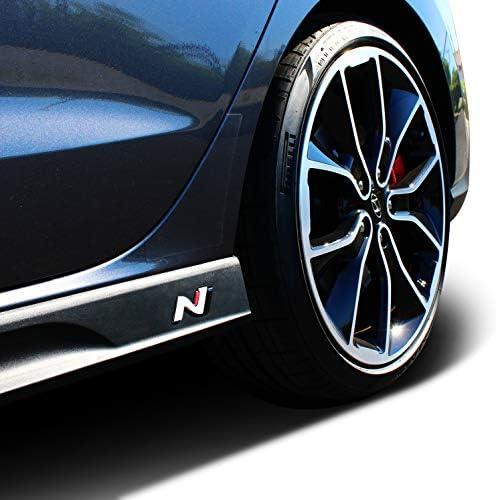 2er Set Original N Logo Badge Oem Emblem Für Seitenschweller Passgenau Aufkleber Für Vorhandene Einprägungen Selbstklebend Auto