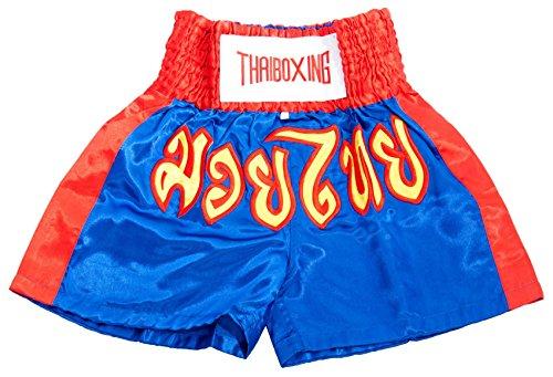 LOFBAZ Kid Muay Thai Boxing Shorts Kick Boxing Trunks Satin Size 2XS-M