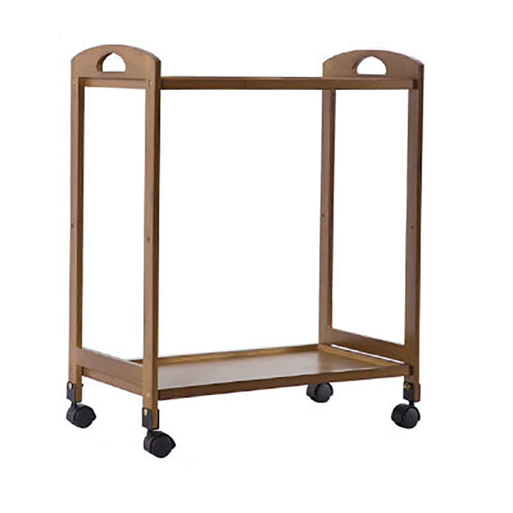 Dining Trolley Rolling Kitchen Wooden Trolley Cart,Multifunctional Storage Cabinet Portable Stand Countertop Home Kitchen Shelves and Organizer W/Wheels