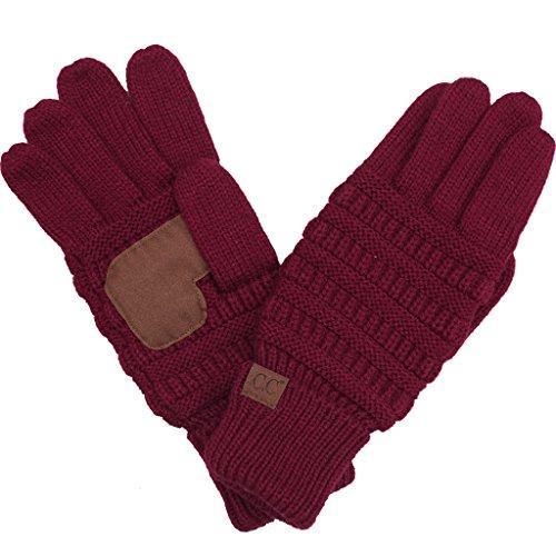 BYSUMMER C.C. Smart Touch Winter Warm Knit Touchscreen Texting Gloves ()