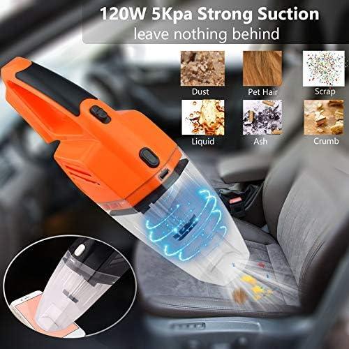 SANON Aspirateur Aspirateur de Voiture Portable Aspirateur Mini aspirateur for Voiture 5kPa Puissant Vaccum Cleaners Auto WTZ012