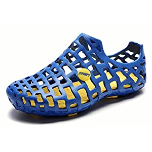 Pairlers Men's Beach Sandals Casual Mesh Water Shoes (9.0 D(M)US, Blue)