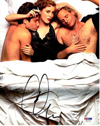 Signed Cris Carter Photo - Chris X Files Sexy in Bed 8x10 UACC RD AFTAL - PSA/DNA Certified (Cris Photograph Carter)