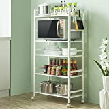 Multi-function five-storey dining racks / microwave oven storage rack / kitchen cart rack/shelf ( Style : C )