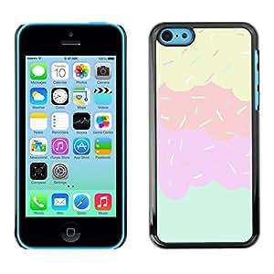 """For Apple iPhone 5C Case , Sprinkles Ice Cream dulce embroma rosa"""" - Diseño Patrón Teléfono Caso Cubierta Case Bumper Duro Protección Case Cover Funda"""