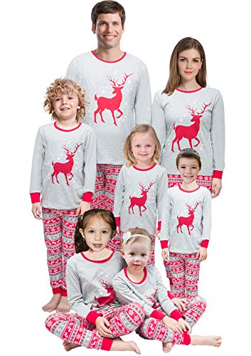 Little Bety Holiday Family Matching Pajamas Fleece Reindeer Men PJ Sets Size -
