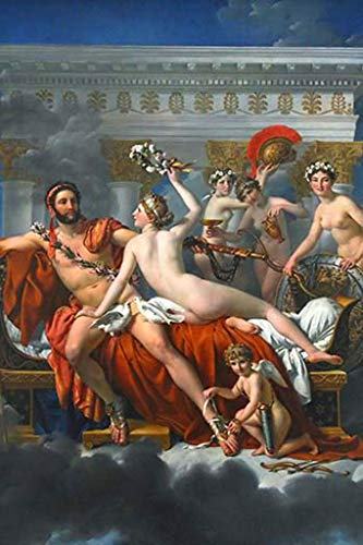 ArtParisienne Mars Disarmed by Venus Jacques Louis David 12x18-inch Canvas Print ()