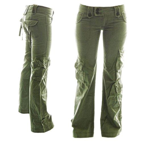 MOLECULE Himalaya-Hipster Cargohose für Damen 45062-100% Baumwolle, Premium  Qualität Damen-Armee-Stil Kampfhose: Amazon.de: Bekleidung