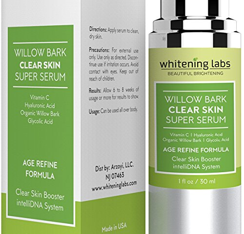 Acne Scar Clear Skin Serum. Spot Removal Formula for Acne Prone Skin with Vitamin E, Hyaluronic Acid, Willow Bark, Licorice for Blemish Free, Soft, Radiant, Youthful Skin 1 (Acne Prone Skin Formula)