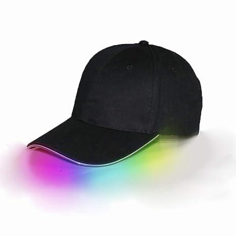 Adjustable Unisex LED Flashing Baseball Sport Hat Light up Glow Style HipHop Cap
