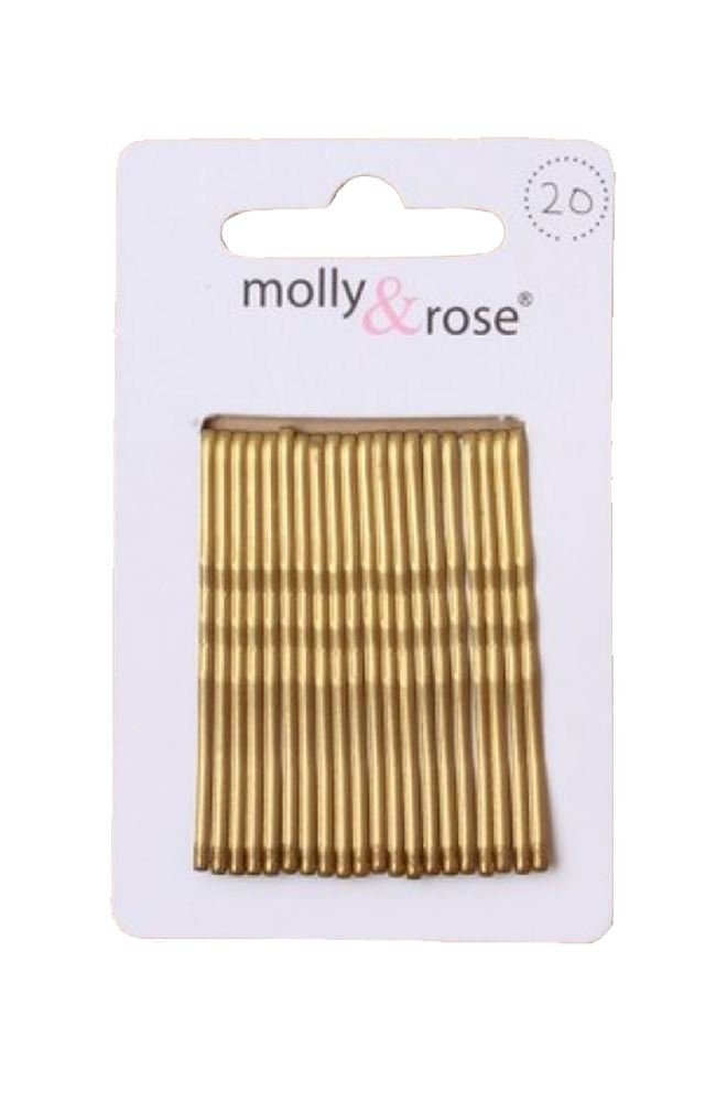 20pc Standard 4.5cm Kirby Grips Hair Bobby Pins Clips Blonde Emelia Accessories