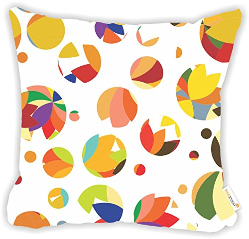 "(Rikki Knight Floral Petals Color Bursts Design Design 18"" Square Microfiber Throw Decorative Pillow with Double Sided Print (Insert NOT Included))"