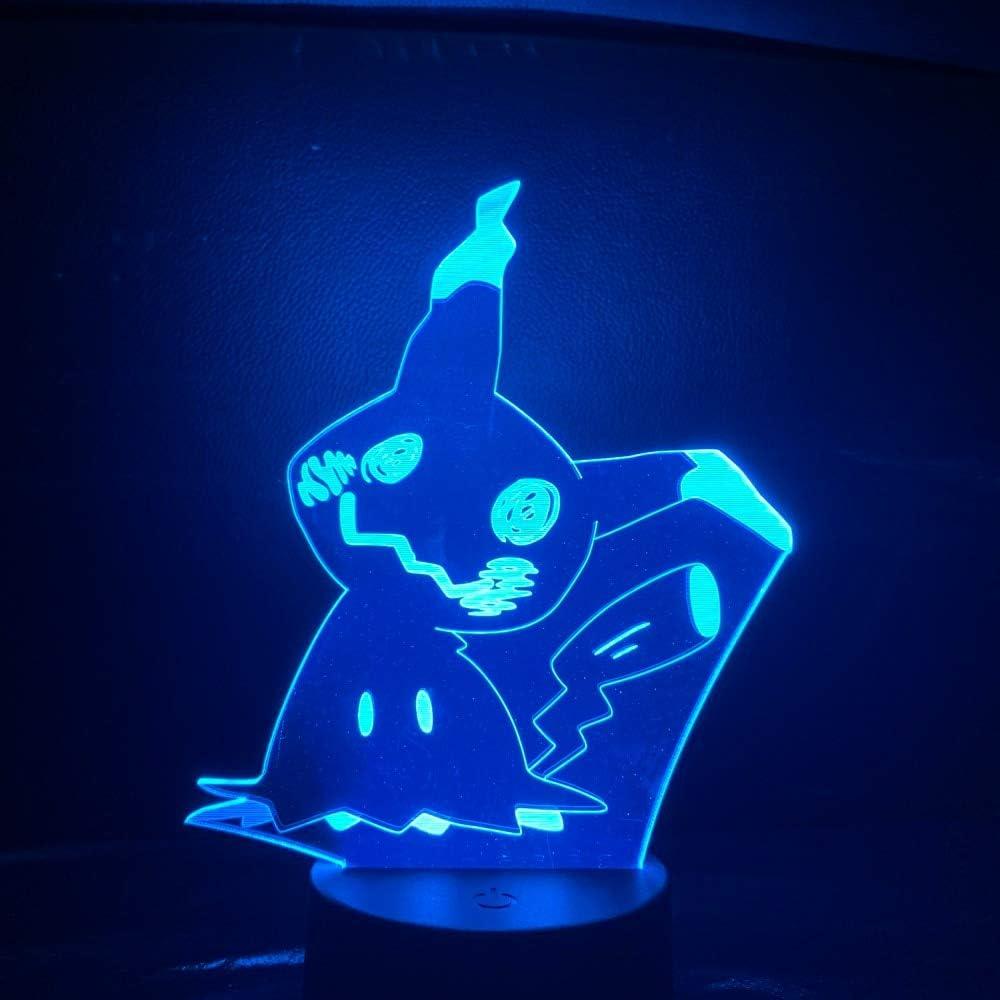 Pokemon go mimikyu figura luz de la noche del bebé led cambio de ...