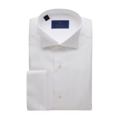 8f3368bd David Donahue Pique Bib Wing Collar Regular Fit Formal Shirt - Size 15, 32/