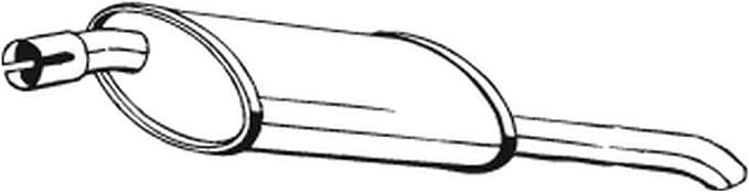 Bosal 185 009 Endschalldämpfer Auto