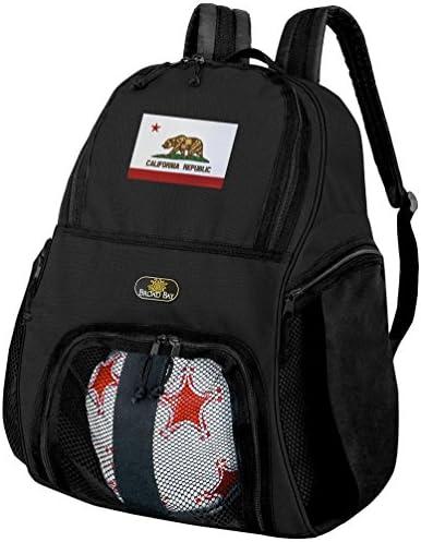 California SOCCERバックパックまたはCalifornia Flagバレーボールバッグ